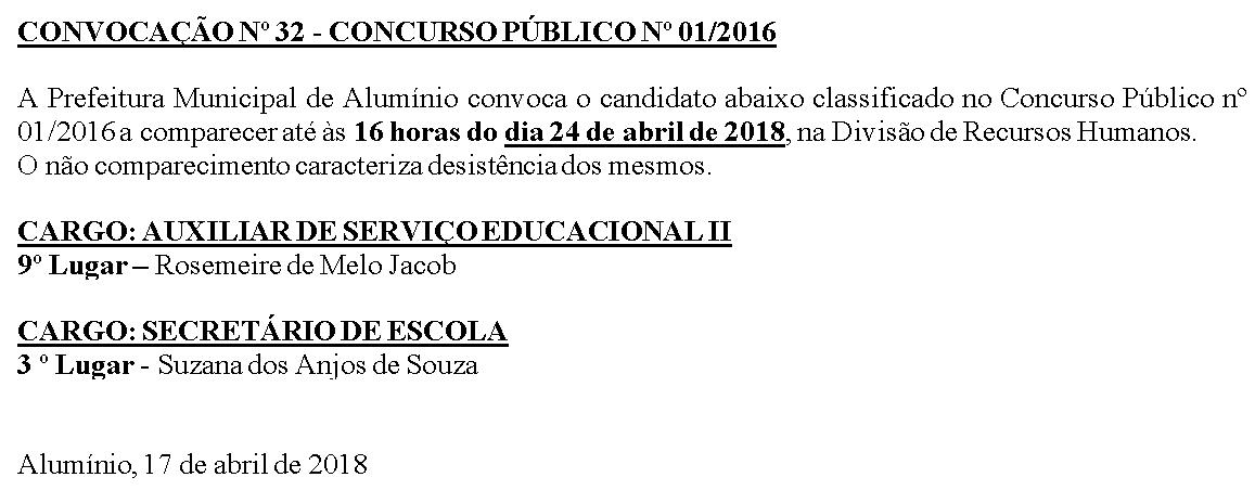 CONVOCACAO 32
