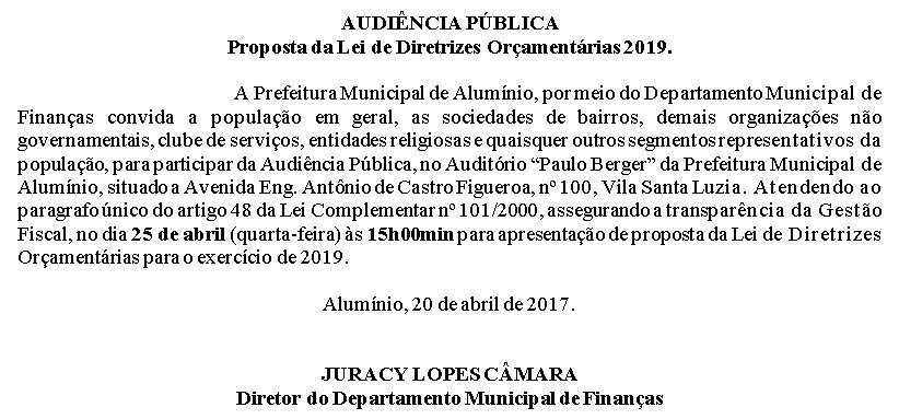 audiencia publica ldo 2019