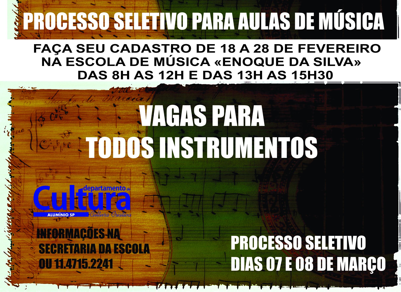 VAGAS AULAS MUSICA