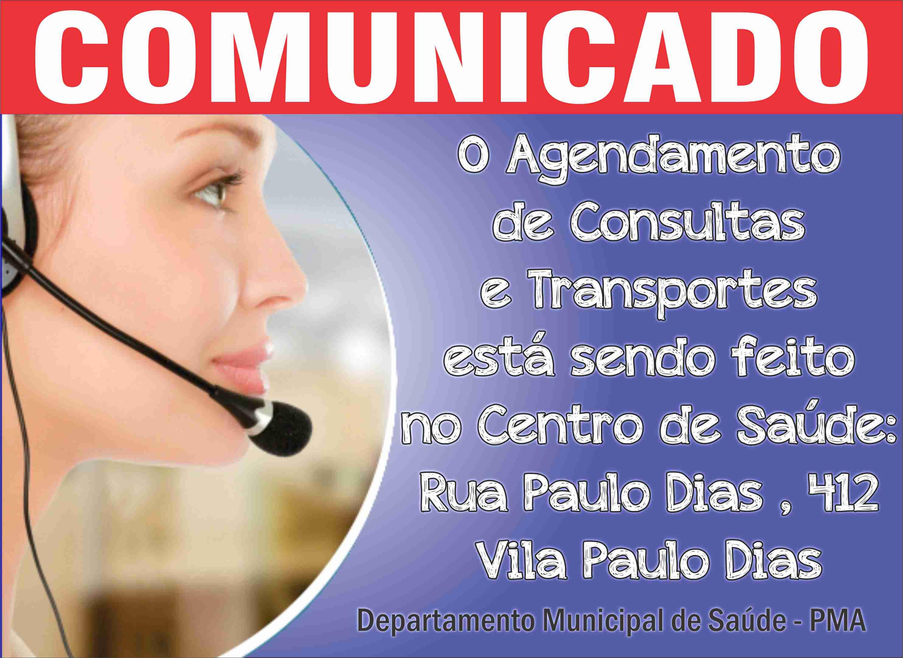 comunicado agendamento