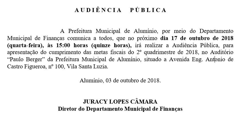 AUDIÊNCIA PUBLICA 2 quadrimestre metas fiscais 2018 em 17-10-2018-finanças