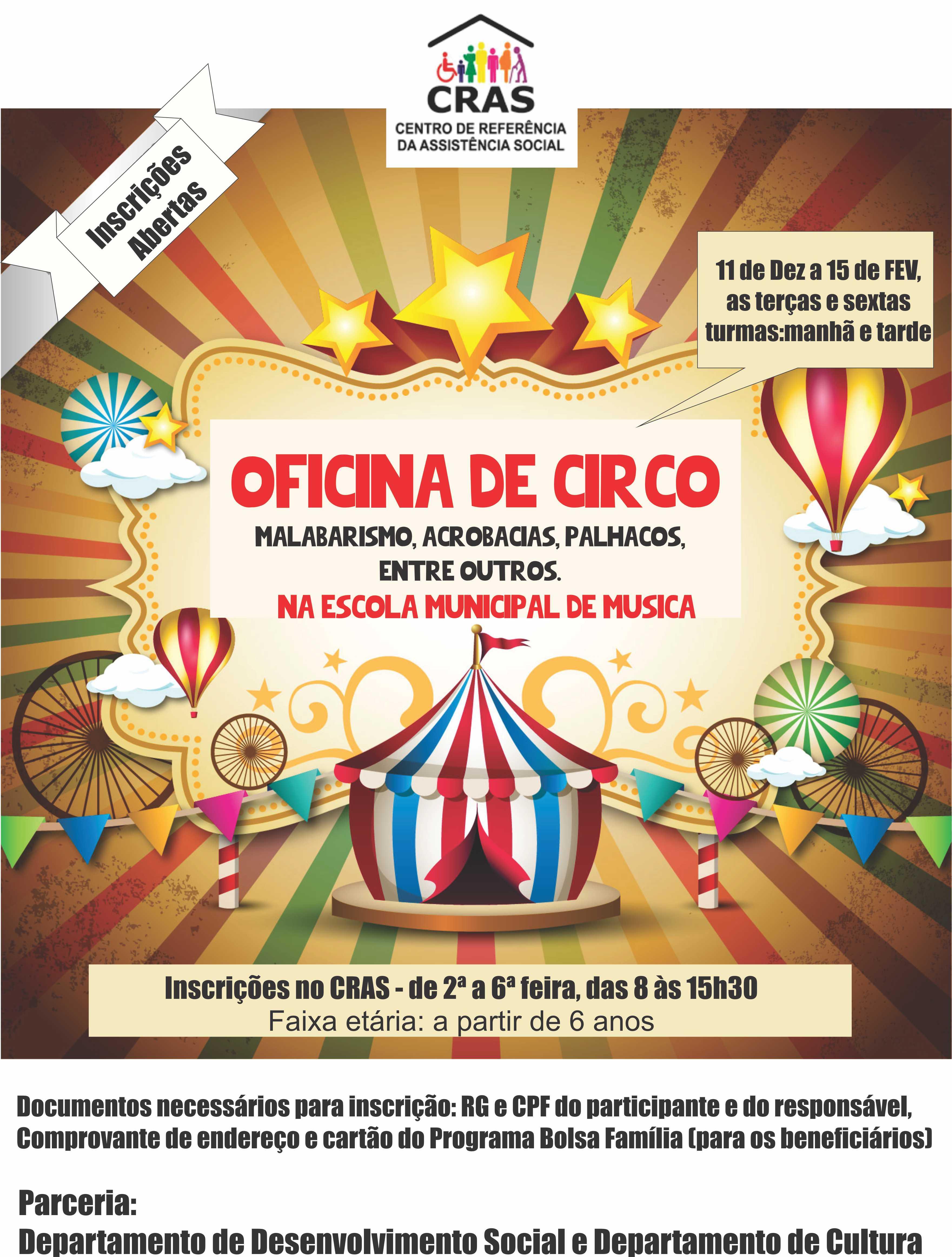 oficina de circo 2018 cartaz