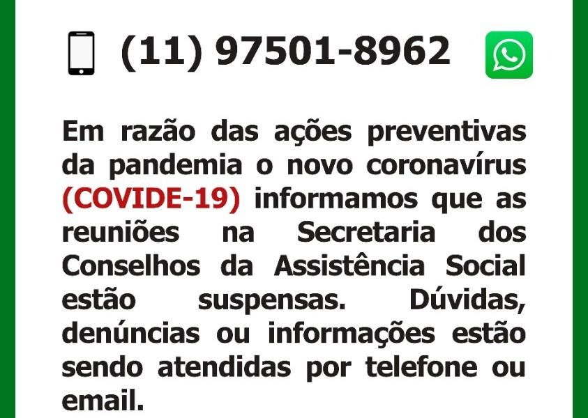 Aviso Secretaria Conselhos Assist Social