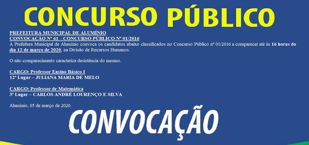 CONCURSOCONVOCACAO61