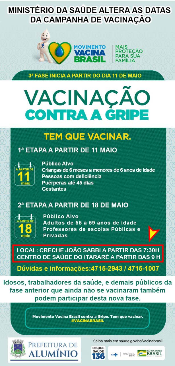 campanha vacinação maio 2020