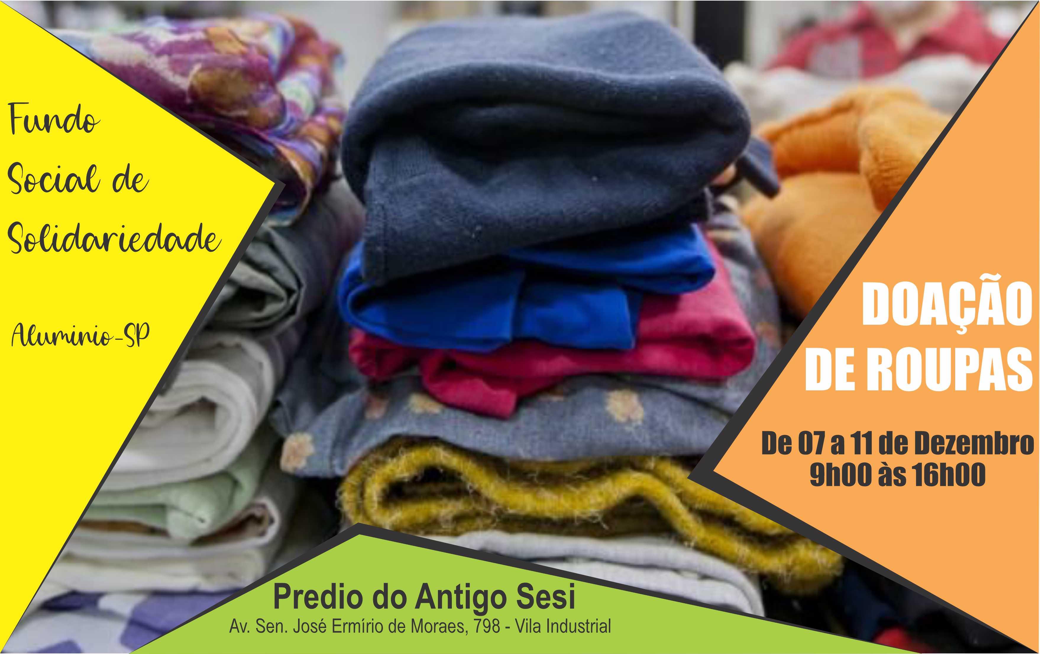 fundo social doação roupas